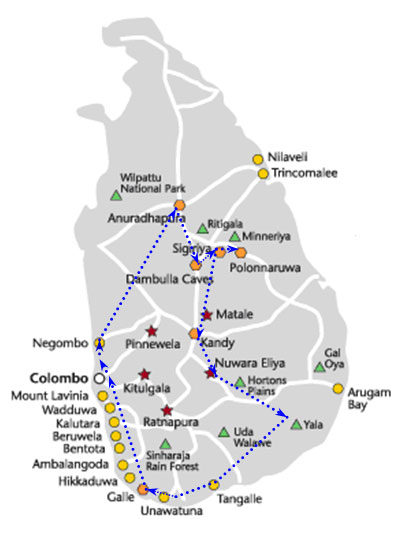 Sri-Lanka-Tour---11-Nights-12-Days-map